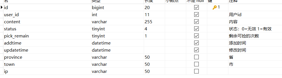 count一个十六万数据的表,查询速度慢