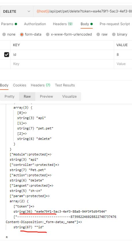 有关ThinkPhp的 delete 请求接收参数问题?