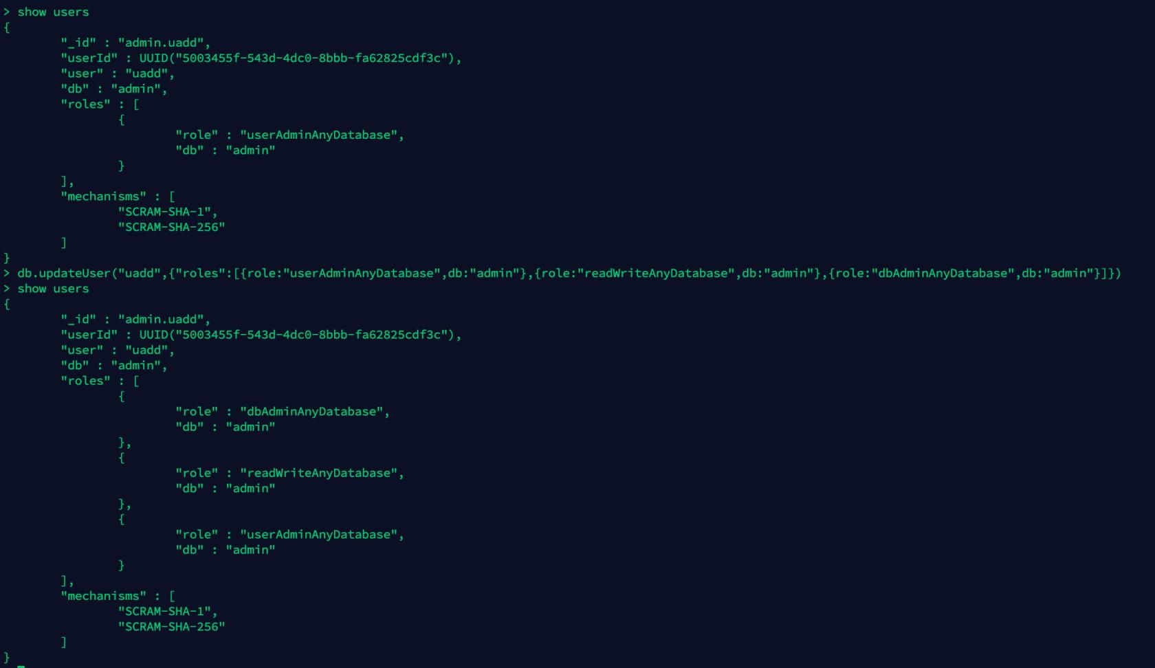 MongoDB 用户与权限管理