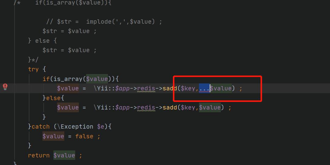 php redis  集合sadd同时写入多个键值的方法