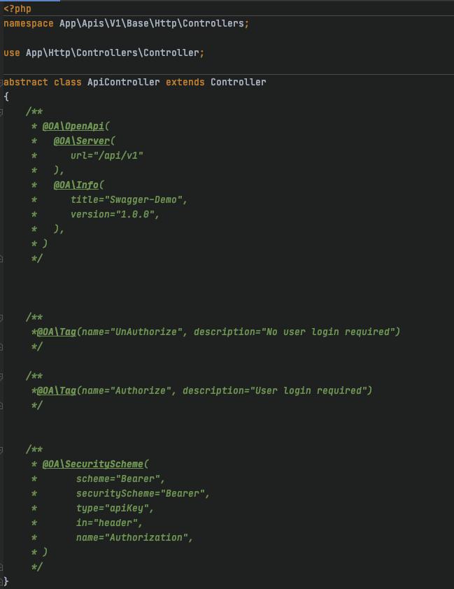 Laravel 8 开发中使用 swagger-php 3 生成文档