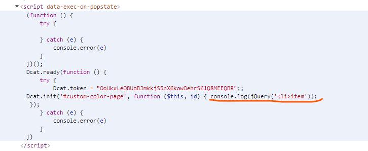 Dcat Admin 自定义页面 script 标签内的 HTML 闭合标签(例如 </li> )会被自动删除
